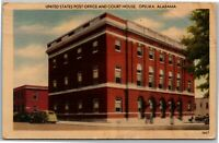 United States Post Office And Court House Opelika Vintage AL Postcard F2