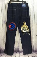 G-Unit Rapper 50 Cent Dark Carpenter Embellished Men's Jeans Decals 36W 34L J222