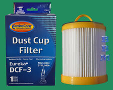 1 DCF3 HEPA Filter Dust Cup 61825 62136 Eureka Sanitaire Whirlwind Lite Washable