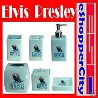 Elvis Presley Ceramic 6 pc Bathroom Set, New Soap Dish