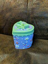 2004 CLAIRE'S FRIENDS Friendship TRINKET BOX PURPLE Heart Vintage