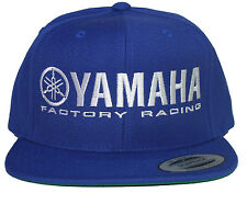 YAMAHA FACTORY RACING HAT CAP FLAT BILL SNAP BACK BLUE  MX YZF YFZ RI R6