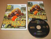 Cabela's Dangerous Hunts 2009 for Nintendo Wii Complete Fast Shipping