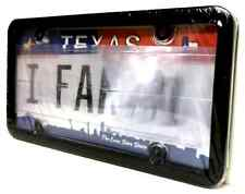 Clear Anti Photo Radar License Plate Cover and Black Frame Combo w/ Bolt Caps