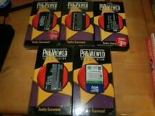 VHS Tape Rare Blockbuster Video Case PREVIEWED VIDEO LOT OF 5 SEALED