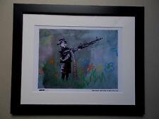 """Gravure ,  Banksy , """" Crayon Shooter """" Tirage 300 Exemplaires numérotés"""