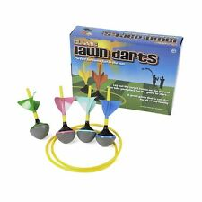 Classic Family Lawn Darts Outdoor Garden Game Picnic Beach Play Set With Rings