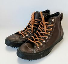 Men's CONVERSE Dark Brown Leather Thinsulate Lace Up Ankle Boots UK 9  - L10