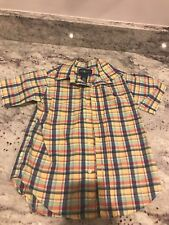 boys polo ralph lauren 4t Yellow Plaid Shirt
