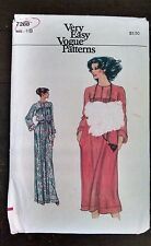 Vtg Vogue Sewing Pattern 7288 Loosing Fitting Dress Maxi 18 Bust 40 Uncut