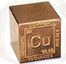 USA Kupferwürfel Kupfer Copper Cube 10 oz 999 Kupfer 311 Gramm Periodensystem