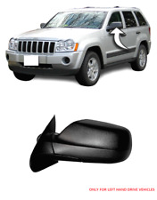 JEEP GRAND CHEROKEE MIRROR WING 2005 - 2010 OUTSIDE BLACK PAIR LEFT SIDE NEW