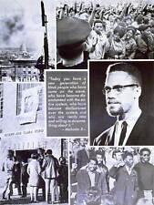 POLITICAL CIVIL RIGHTS AFRICAN AMERICAN MALCOLM X ISLAM ART PRINT POSTER CC1710