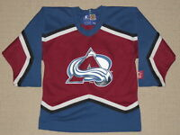 NHL Hockey Vintage 90s Colorado Avalanche Jersey Kids Youth M Medium Starter