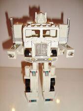 FIGURINE ROBOT TRANSFORMERS CHEF DES AUTOBOT - OPTIMUS PRIM BLANC (17x11cm)