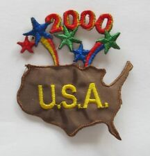 #3924 Collectible 2000 USA Word,Firework Embroidery Applique Patch