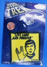 Patch '75 vtg Moc Star Trek - Spock Vulcan Live Long Prosper Moc original series