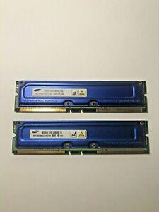 Samsung 256MB / 16 Rambus RIMM RDRAM - PC800-45 - MR16R082GAN1-CK8 (2 Modules)