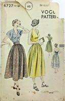 c1940/50's Vintage Sewing Pattern Vogue 6727 Ladies Halter Skirt & Bolero