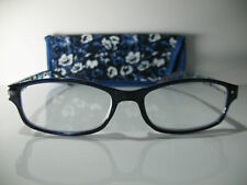 New! Foster Grant Readers Choice Brigette Navy 1.50 Reading Glasses W/Soft Case