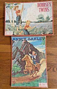Vintage Annie Oakley Bobbsey Twins Puzzle Milton Bradley Aptitude Tested 1958