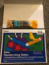 """Mead Handwriting Tablet 1/2"""" Ruling 40 Sheets Pack of 2 Plus 5 Mech Pencils"""