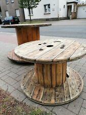 Gartentisch Kabeltrommel Holz 80 cm Durchmesser Höhe 50 cm