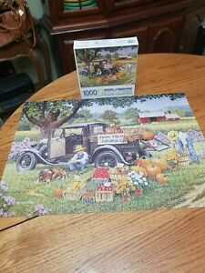 """Bits And Pieces 1000 Piece Jigsaw Puzzle """"Home Grown"""" Art By John Sloan Produce"""