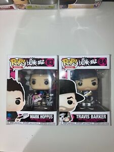 Blink 182 Funko pop Mark Hoppus, Travis Barker (slight damages)