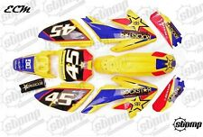 FACTORY ROCKSTAR CRF70 Plastica & KIT GRAFICHE PIT BIKE Stomp GIALLO NUOVO DESIGN!