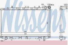 Nissens 62972 Radiator FIT NISSAN PRIMERA P10 (90-)
