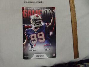 Dec 6 2015 Buffalo Bills Game Day Program vs Houston Texans Marcell Dareus Cover