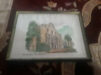 "Nice Signed Pencil Drawing Of The Alamo Artist Unknown 16 1/2"" X 11 5/8"
