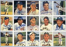 Multi Signed Auto Vintage Print 1950's Baseball Stars 11 SIGNATURES PSA/DNA LOA