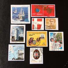 Lot de 10 timbres - Pays divers et années diverses - encore sur frag - A96