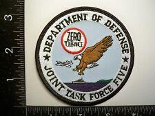 Old Federal DOD USCS USBP USCG DEA Joint TF 5 Patch Caribbean Police Drug TF