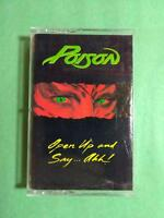 POISON Open Up And Say Ahh C4 48493 Cassette Tape