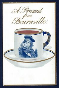 Cadbury's Cocoa Die-cut Postcard - A PRESENT from BOURNEVILLE