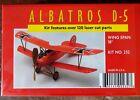 """Dumas Albatros D.V 18"""" Walnut Scale Rubber Powered Flying Model 232"""