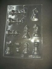 10 on 1 CHESS PIECES CHOCOLATE MOULD/MOULDS/CAKE TOPPER/GIFT/MAKES 5 X 3-D ITEMS