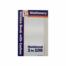 Duplicate Invoice Receipt Book Ruled With 2 Carbon Cash Numbered 1-100 Pages Pad