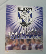 CANTERBURY BULLDOGS  RUGBY LEAGUE POSTER
