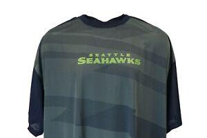 Seattle Seahawks NFL Majestic Lightweight Striped Poly T-Shirt Big & Tall 5XL