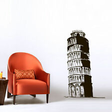 Wall Decal Sticker Skyline Town City Leaning Tower Pisa statue Italy Room M1563
