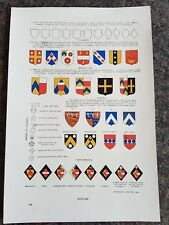 19th century Colour Lithograph SHIELDS