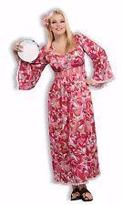 Plus Size Full Figured Adult Women's Flower Child Generation Hippie Costume