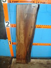"""# 7687  Black Walnut Live Edge Slab lumber craft wood L 33"""" W 8 1/2"""" T 1 3/4"""""""