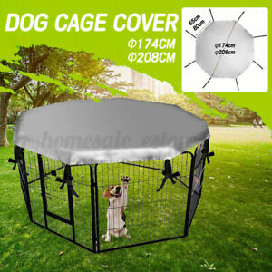 Dog Crate Cover Waterproof Windproof Cat Pet Kennel Shade For 24'' Cage Crate