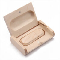 Wood Oval USB 2.0 Memory Stick Flash Drive U Disk w/Wooden Box for PC 32G