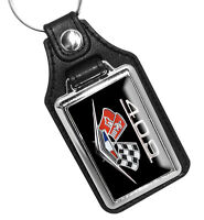 Compatible with Chevy Racing Twin Flags 409 Engine Emblem Key Ring